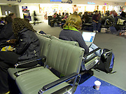 people waiting at airport