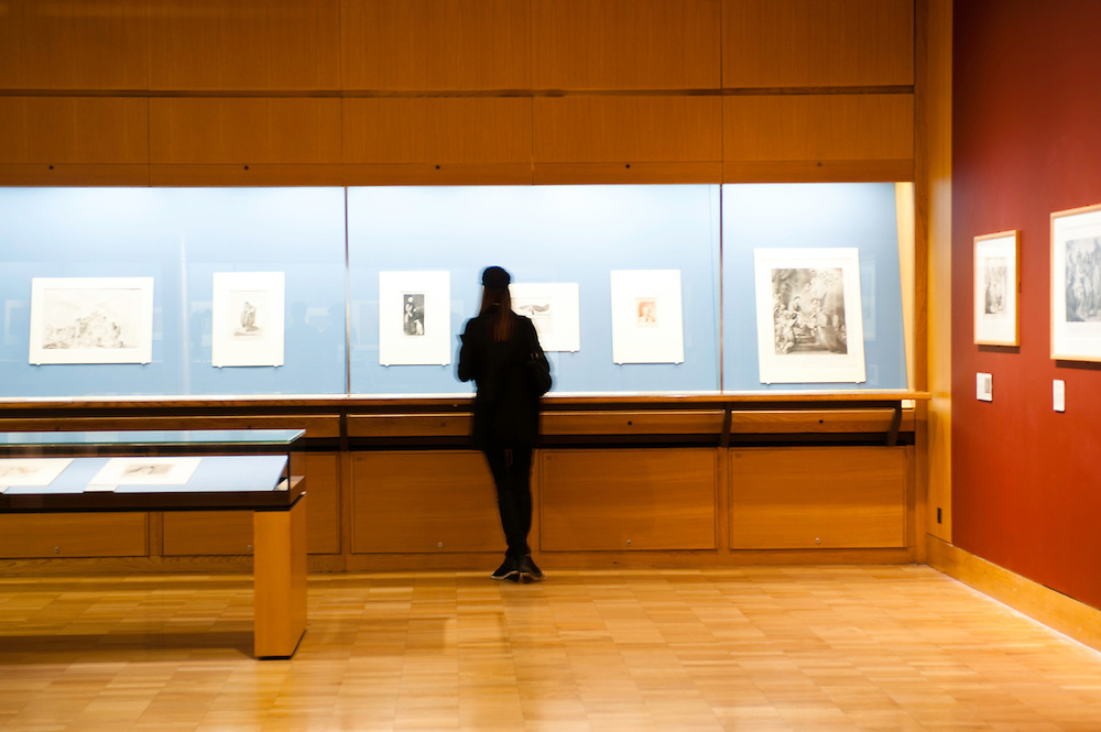 London, Uk - 18 September 2012: A woman views drawing during the Press Preview for the British Museum's Renaissance to Goya: Prints and Drawings from Spain exhibition curated by Mark McDonald