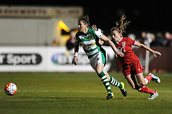 Chloe Arthur of Bristol City Women gives chase to the ball - Mandatory by-line: Dougie Allward/JMP - Mobile: 07966 386802 - 23/03/2016 - FOOTBALL - Stoke Gifford Stadium - Bristol, England - Bristol City Women v Yeovil Town Ladies - FA Women's Super League 2