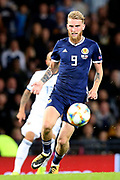 Scotland forward Oliver McBurnie (9) (Sheffield United) during the UEFA European 2020 Qualifier match between Scotland and Russia at Hampden Park, Glasgow, United Kingdom on 6 September 2019.