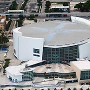 USA/Miami/20150808 - Rondvlucht boven Miami, American Arena