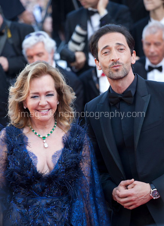 Actor Adrien Brody and Caroline Scheufele at the Award Ceremony and The Man Who Killed Don Quixote at the The Man Who Killed Don Quixote gala screening at the 71st Cannes Film Festival, Saturday 19th May 2018, Cannes, France. Photo credit: Doreen Kennedy