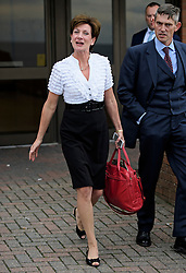 ©  London News Pictures. 17/09/2016. Bournemouth, UK. Party leader DIANE JAMES leaves after delivering her closing speech at Day  2 of the 2016 UKIP Autumn Conference, held at the Bournemouth International Centre in Bournemouth, Dorset. On Friday, the party elected Diane James as their new leader, following Nigel Farage resignation after the UK voted to leave the EU in a referendum..  Photo credit: Ben Cawthra/LNP