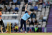 Leigh Kasperek of Yorkshire Diamonds bowling during the Women's Cricket Super League match between Southern Vipers and Yorkshire Diamonds at the Ageas Bowl, Southampton, United Kingdom on 21 August 2019.