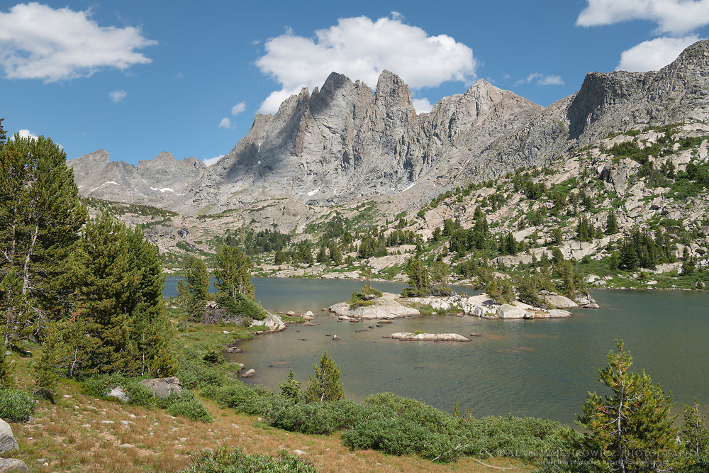 Mount Bonneville and Little Bonneville Lake. Bridger Wilderness, Wind River Range Wyoming