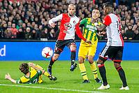 ROTTERDAM - Feyenoord - ADO Den Haag , Voetbal , KNVB Beker , Seizoen 2016/2017 , De Kuip , 14-12-2016 , Feyenoord speler Karim El Ahmadi scoort de 4-0