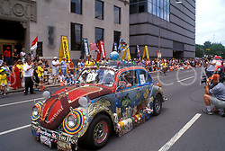 Stock photo of a very decorated Volkswagen bug