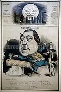Caricature of composer Gioacchino Rossini by André Gill for the newspaper La Lune (1867) / Caricatura del compositore Gioacchino Rossini  disegnata nel 1867 da André Gill per il giornale La Lune - Reproduced by Marcello Mencarini