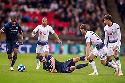 November 6, 2018 - London, Greater London, England - Gastón Pereiro of PSV Eindhoven is fouled by Ben Davies of Tottenham Hotspur during the UEFA Champions League Group Stage match between Tottenham Hotspur and PSV Eindhoven at Wembley Stadium, London, England on 6 November 2018. Photo by Salvio Calabrese. (Credit Image: © AFP7 via ZUMA Wire)