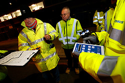 UK ENGLAND LONDON 23NOV10 - Phil Jessup of the Climate Group and engineers contracted by TfL (Transport for London) measure lighting levels of LED street lighting on a test site at Blackfriars Road, Southwark, central London...Light-emitting diode (LED) lamps, combined with smart controls, can cut CO2 emissions 50 to 70%. Lighting accounts for nearly 10% of global CO2 emissions, more than cars worldwide...jre/Photo by Jiri Rezac..© Jiri Rezac 2010