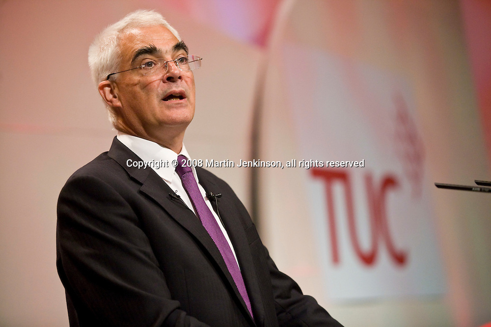 Alistair Darling, Chancellor of the Exchequer, at the TUC Conference 2008.