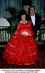 JACQUELINE, LADY KILLEARN and MR RONALD HUMMEL,  at a ball in London on January 30th 1997.LWE 7