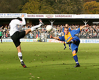 Shrewsbury town v Hereford,Fa cup first round.<br />11-11-2006.<br />Shrewsburysn Neil Aston(R)Herefords TimSills