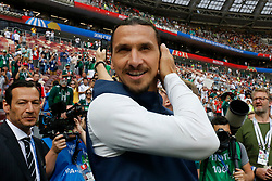Sweden's Zlatan Ibrahimovic was a VIP invited by Visa during the 2018 FIFA World Cup Russia game, Germany vs Mexico in Luzhniky Stadium, Moscow, Russia on June 17, 2018. Mexico won 1-0. Photo by Henri Szwarc/ABACAPRESS.COM