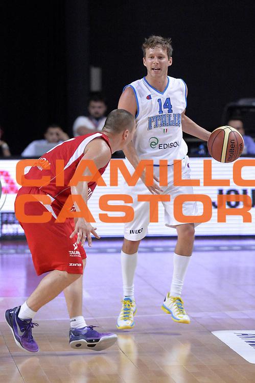 DESCRIZIONE : Anversa European Basketball Tour Antwerp 2013 Italia Polonia Italy Poland<br /> GIOCATORE : Diener Travis<br /> CATEGORIA : palleggio<br /> SQUADRA : Nazionale Italia Maschile Uomini<br /> EVENTO : European Basketball Tour Antwerp 2013 <br /> GARA : Italia Polonia Italy Poland<br /> DATA : 19/08/2013<br /> SPORT : Pallacanestro<br /> AUTORE : Agenzia Ciamillo-Castoria/GiulioCiamillo<br /> Galleria : FIP Nazionali 2013<br /> Fotonotizia : Anversa European Basketball Tour Antwerp 2013 Italia Polonia Italy Poland<br /> Predefinita :