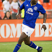Everton FC Attacker Magaye Gueye #19 keeps procession of the ball during the MLS International friendly match between Everton FC of England and DC United...Everton FC Defeated DC United 3-1 Saturday, July 23, 2011, at  RFK Stadium in Washington DC.