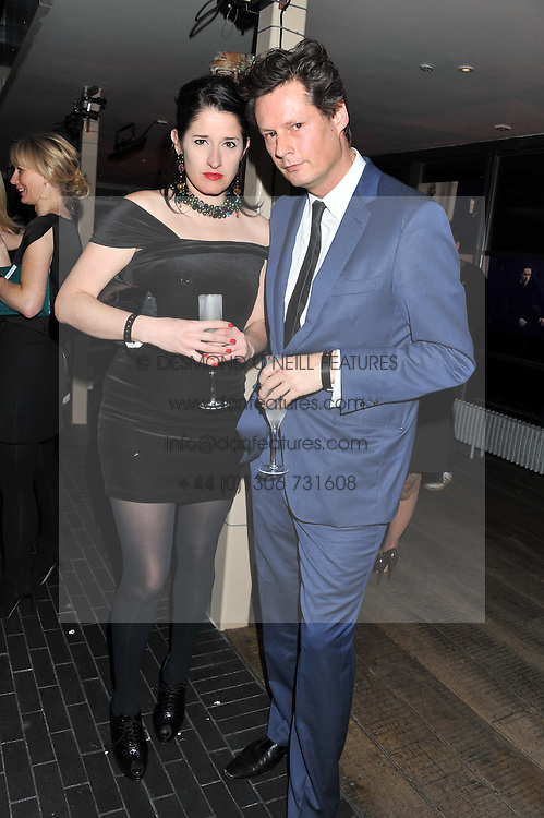 AMY MOLYMEAUX and PERCY PARKER at the InStyle Best of British Talent Event in association with Lancôme and Charles Worthington held at The Rooftop Restaurant, Shoreditch House, Ebor Street, E1 on 26th January 2012.