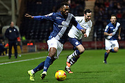 Birmingham City midfielder Demarai Gray attacks during the Sky Bet Championship match between Preston North End and Birmingham City at Deepdale, Preston, England on 15 December 2015. Photo by Pete Burns.