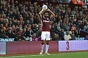 Ahmed Elmohamady of Aston Villa (27) takes a throw in during the EFL Sky Bet Championship match between Aston Villa and Rotherham United at Villa Park, Birmingham, England on 18 September 2018.