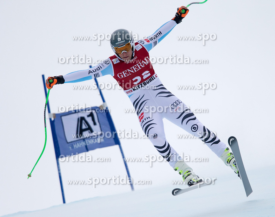 23.01.2015, Streif, Kitzbuehel, AUT, FIS Ski Weltcup, Supercombi Super G, Herren, im Bild Josef Ferstl (GER) // Josef Ferstl of Germany in action during the men's Super Combined Super-G of Kitzbuehel FIS Ski Alpine World Cup at the Streif Course in Kitzbuehel, Austria on 2015/01/23. EXPA Pictures © 2015, PhotoCredit: EXPA/ Johann Groder