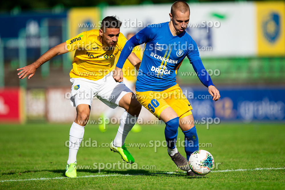 Aljoša Matko of Bravo vs Žan Zaletel of Celje during football match between NK Bravo and NK Celje in 13th Round of Prva liga Telekom Slovenije 2019/20, on October 5, 2019 in ZAK stadium, Ljubljana, Slovenia. Photo by Vid Ponikvar / Sportida