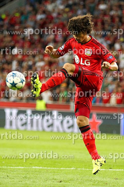 26.08.2015, BayArena, Leverkusen, GER, UEFA CL, Bayer 04 Leverkusen vs Lazio Rom, Playoff, R&uuml;ckspiel, im Bild Andre Ramalho (#2, Bayer 04 Leverkusen) // during UEFA Champions League Playoff 2nd Leg match between Bayer 04 Leverkusen and SS Lazio at the BayArena in Leverkusen, Germany on 2015/08/26. EXPA Pictures &copy; 2015, PhotoCredit: EXPA/ Eibner-Pressefoto/ Deutzmann<br /> <br /> *****ATTENTION - OUT of GER*****