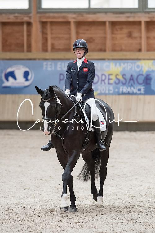 Christiansen Sophie, (GBR), Athene Lindebjerg<br /> Grade Ia Team Test<br /> Para-Dressage FEI European Championships Deauville 2015<br /> &copy; Hippo Foto - Jon Stroud<br /> 18/09/15