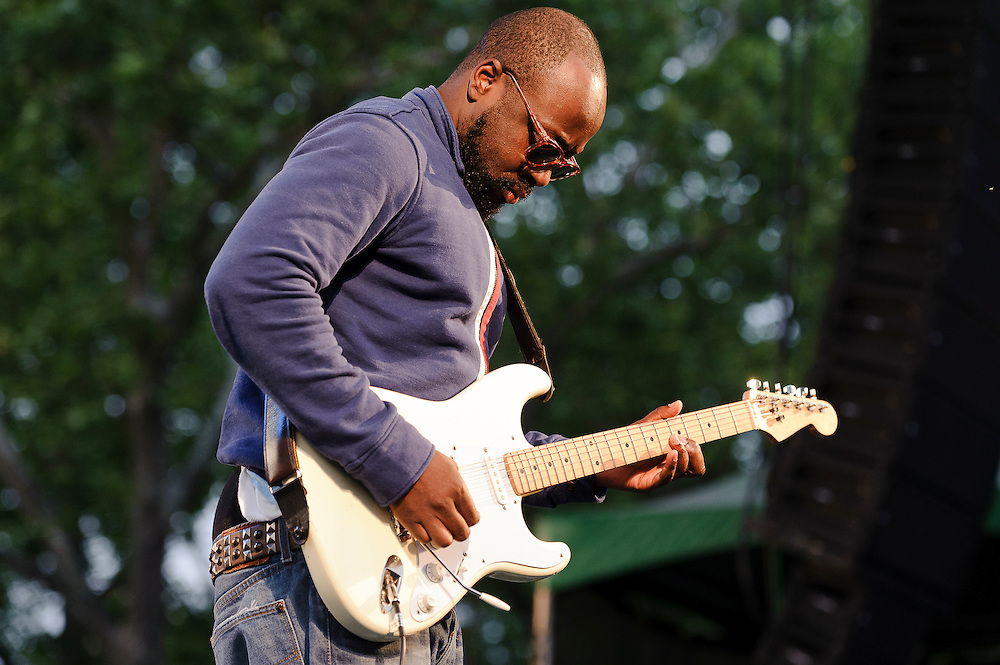 "Photos of musician Wyclef Jean performing at City Parks Foundation's SummerStage gala event, ""The Music of Jimi Hendrix"", at Rumsey Playfield in Central Park, NYC. June 5, 2012. Copyright © 2012 Matthew Eisman. All Rights Reserved."