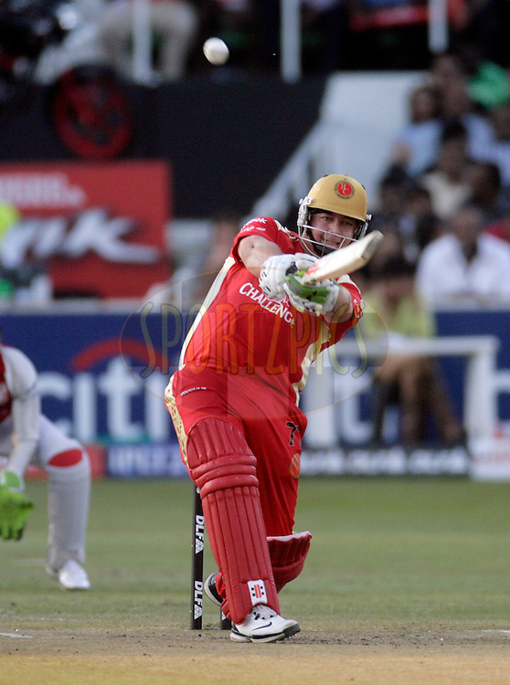 DURBAN, SOUTH AFRICA - 24 April 2009. Jesse Ryder plays a shot during the IPL Season 2 match between the Royal Challengers Bangalore and the Kings X1 Punjab held at Sahara Stadium Kingsmead, Durban, South Africa..