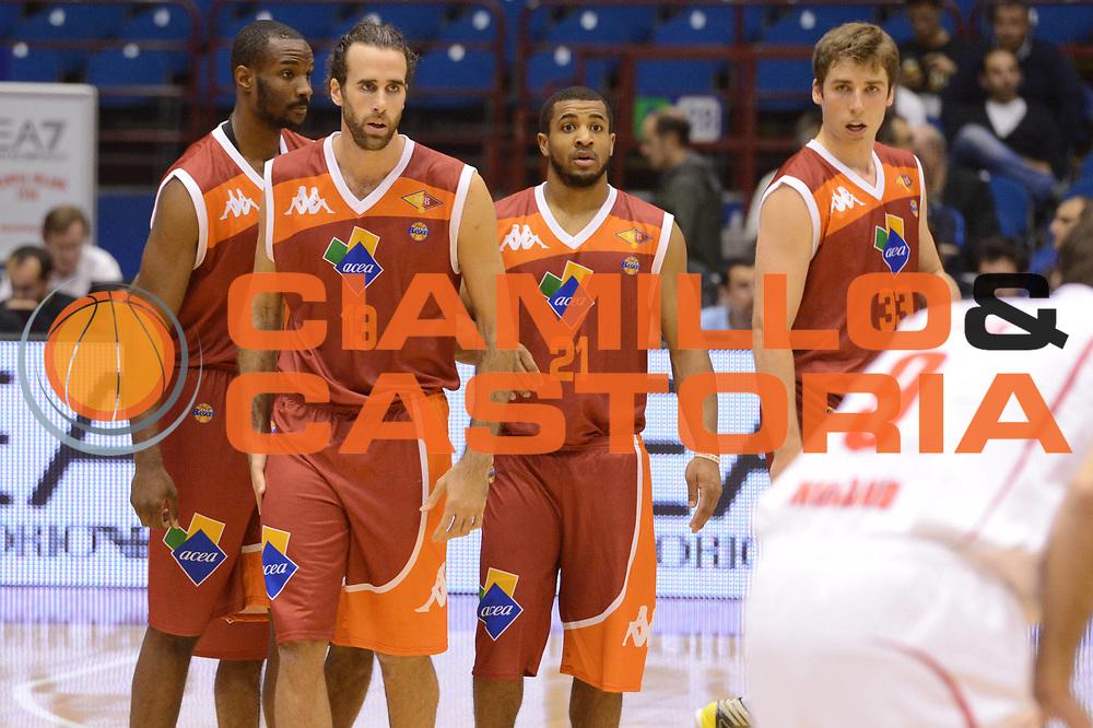 DESCRIZIONE : Milano Lega A 2012-13 EA7 Emporio Armani Milano Acea Roma<br /> GIOCATORE : team<br /> CATEGORIA : curiosita<br /> SQUADRA : Acea Roma<br /> EVENTO : Campionato Lega A 2012-2013 <br /> GARA : EA7 Emporio Armani Milano Acea Roma<br /> DATA : 22/10/2012<br /> SPORT : Pallacanestro <br /> AUTORE : Agenzia Ciamillo-Castoria/GiulioCiamillo<br /> Galleria : Lega Basket A 2012-2013  <br /> Fotonotizia :  Milano Lega A 2012-13 EA7 Emporio Armani Milano Acea Roma<br /> Predefinita :