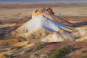 Colorful formation at the Breakaways Reserve at sunset, Coober Pedy, Australia.