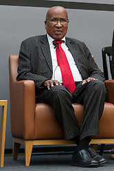 July 18, 2018 - London, United Kingdom - Anti-apartheid icon Andrew Mlangeni in conversation as The Robert F. Kennedy Human Rights UK  celebrates what would have been President Nelson Mandela 100th Birthday Celebration honouring anti-apartheid icon Andrew Mlangeni. The event was held at Courts Bank headquarters in London, United Kingdom, 18 July 2018 (Credit Image: © Ray Tang/ZUMA Press)