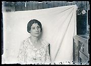 improvised studio portrait of a woman circa 1930s