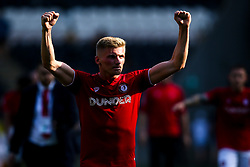 Taylor Moore of Bristol City celebrates victory over Hull City - Mandatory by-line: Robbie Stephenson/JMP - 24/08/2019 - FOOTBALL - KCOM Stadium - Hull, England - Hull City v Bristol City - Sky Bet Championship