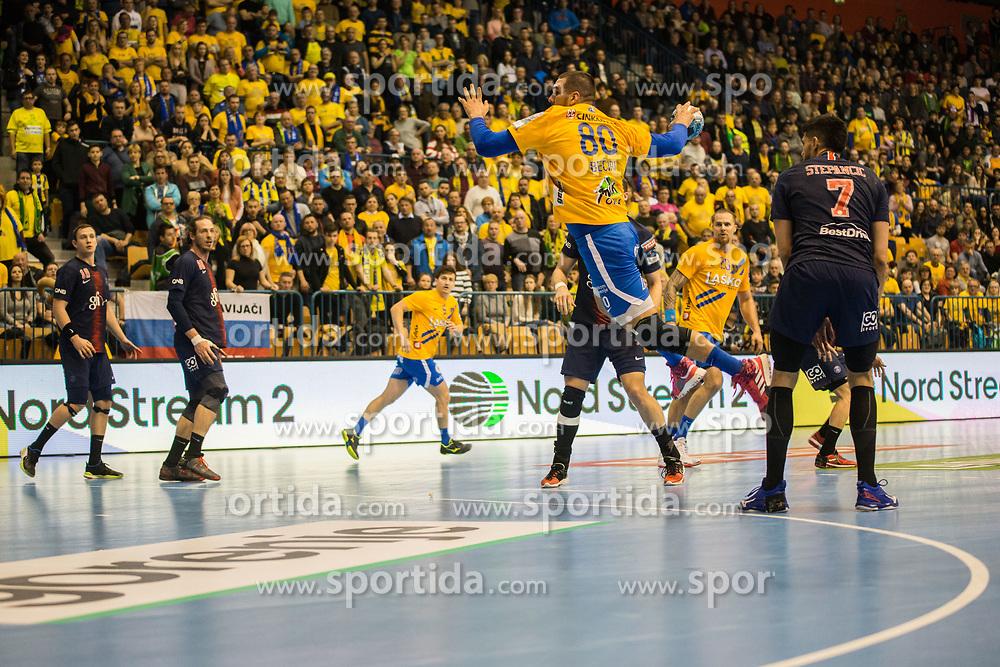Kristian Beciri during handball match between RK Celje Pivovarna Lasko (SLO) and Paris Saint-Germain HB (FRA) in VELUX EHF Champions League 2018/19, on February 24, 2019 in Arena Zlatorog, Celje, Slovenia. Photo by Peter Podobnik / Sportida
