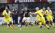 Luka Tankulic is out numbered as he runs at the St Mirren defence  - Dundee v St Mirren, SPFL Premiership at <br /> Dens Park<br /> <br />  - &copy; David Young - www.davidyoungphoto.co.uk - email: davidyoungphoto@gmail.com