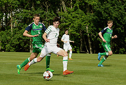 Sean Kennedy in action for Republic of Ireland against Northern Ireland in the U16 Uefa development tournament United Park Westport.<br /> Pic Conor McKeown