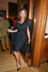 VISCOUNTESS WEYMOUTH at a party to celebrate the publication of Capability Brown & Belvoir - Discovering a lost Landscape by The Duchess of Rutland, held at Christie's, 8 King Street, St.James, London on 7th October 2015.