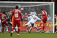 Swindon - Saturday March 20th, 2010: Gordon Greer of Swindon scores his sides equalising goal and celebrates during the Coca Cola League One match at The County Ground, Swindon. (Pic by Paul Chesterton/Focus Images)