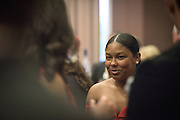 Ohio University College of Education junior, Kalah Saunders, attends the 2016 Alumni Awards Gala at Ohio University's Baker Center Ballroom on Friday, October 07, 2016.