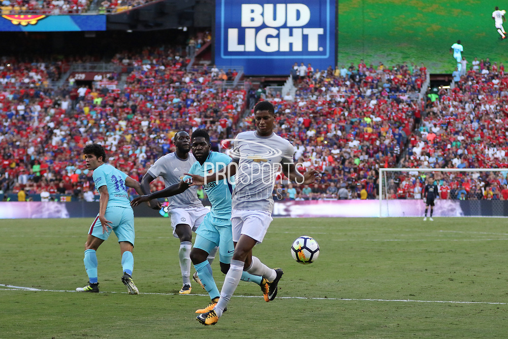 Manchester United Forward Marcus Rashford during the International Champions Cup match between Barcelona and Manchester United at FedEx Field, Landover, United States on 26 July 2017.