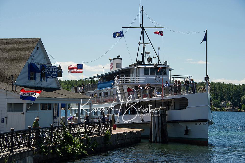 The Mount Washington ready to take on passengers from the Wolfeboro town docks.  (Karen Bobotas/Photographer)