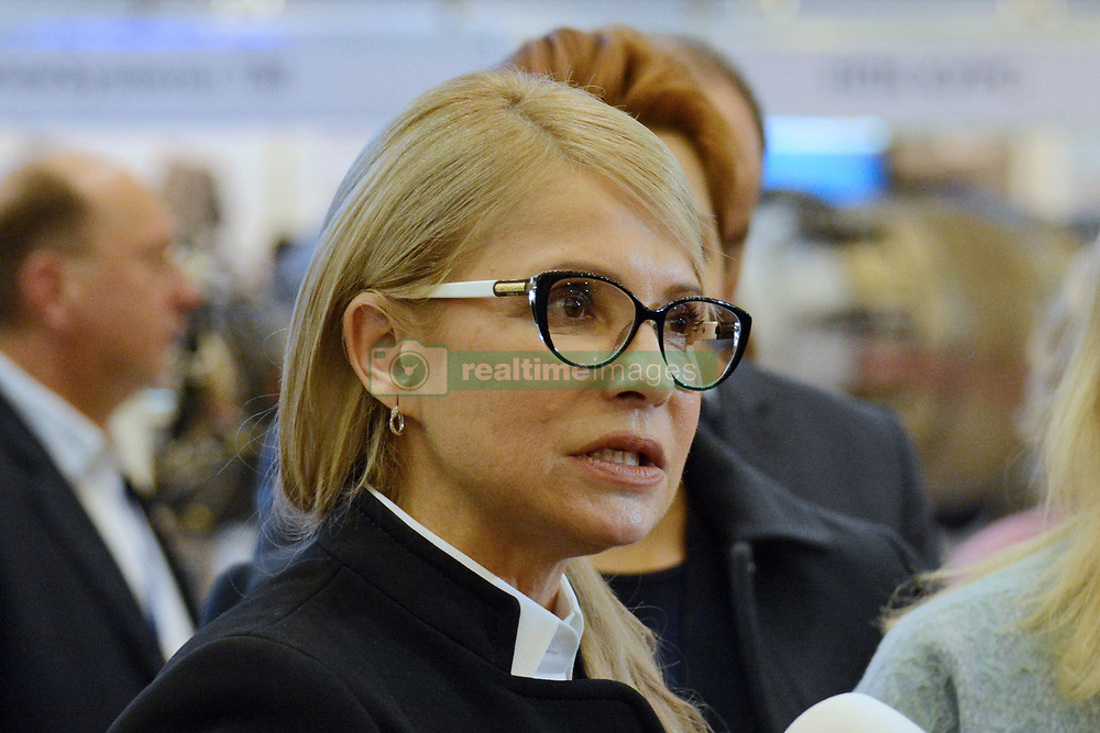 October 9, 2018 - Kyiv, Ukraine - Verkhovna Rada deputy from the ''Fatherland'' MP Yulia Tymoshenko during during International Specialized Exhibition Arms and Security 2018. (Credit Image: © Aleksandr Gusev/Pacific Press via ZUMA Wire)
