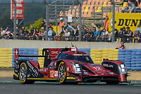 Nicolas Prost (FRA) / Nelson Piquet Jr (BRA) / Nick Heidfeld (DEU) #12 Rebellion Racing Rebellion R-One AER,  during Le Mans 24 Hr June 2016 at Circuit de la Sarthe, Le Mans, Pays de la Loire, France. June 19 2016. World Copyright Peter Taylor/PSP. Copy of publication required for printed pictures.  Every used picture is fee-liable. http://archive.petertaylor-photographic.co.uk