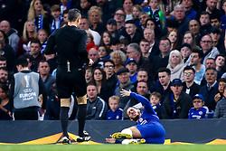 Eden Hazard of Chelsea looks in pain - Mandatory by-line: Robbie Stephenson/JMP - 18/04/2019 - FOOTBALL - Stamford Bridge - London, England - Chelsea v Slavia Prague - UEFA Europa League Quarter Final 2nd Leg