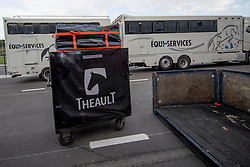Team France arriving in The Horse Inn<br /> Departure of the horses to the Rio Olympics from Liege Airport - Liege 2016<br /> © Hippo Foto - Dirk Caremans<br /> 29/07/16
