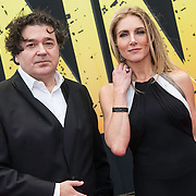 NLD/Amsterdam/20140508 - Wereldpremiere Musical Anne, Jessica Durlacher en partnerLeon de Winter