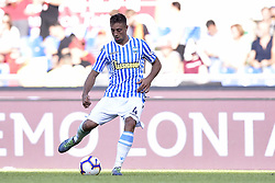 October 20, 2018 - Rome, Rome, Italy - Thiago Rangel Cionek of SPAL during the Serie A match between Roma and SPAL at Stadio Olimpico, Rome, Italy on 20 October 2018  (Credit Image: © Giuseppe Maffia/NurPhoto via ZUMA Press)