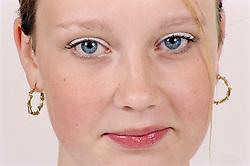 Closeup portrait of teenage girl,