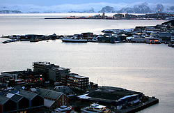 Norway Hammerfest 24MAR07 - General view of Hammerfest and Melkoya island, the world's most northerly town...jre/Photo by Jiri Rezac..© Jiri Rezac 2007..Contact: +44 (0) 7050 110 417.Mobile:  +44 (0) 7801 337 683.Office:  +44 (0) 20 8968 9635..Email:   jiri@jirirezac.com.Web:    www.jirirezac.com..© All images Jiri Rezac 2007 - All rights reserved.